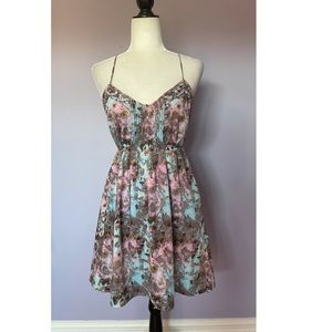 Urban Outfitters Ecote  Watercolors Sun Dress